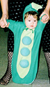 Baby in peapod costume