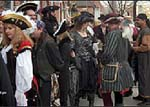 Pirates assembling in street