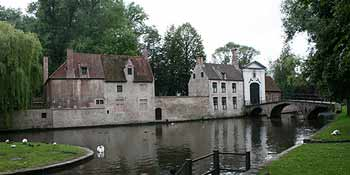 Beguinage with moat
