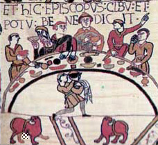 Click to see more of this feast from the Bayeaux Tapestry