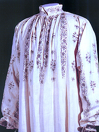 Smock with embroidery