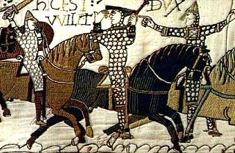 Knights in Bayeaux Tapestry